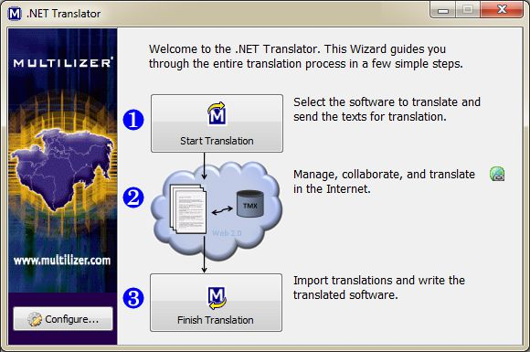 Click to view Multilizer .NET Translator 2011 screenshot